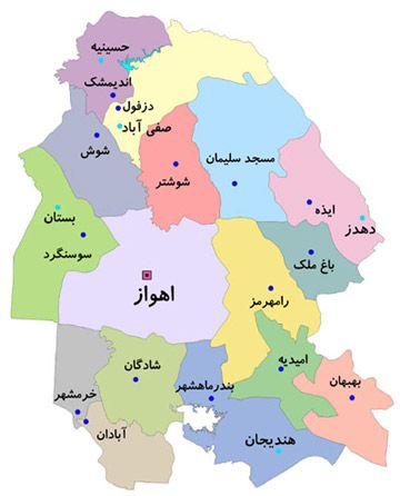 نقشه اهواز - خوزستان